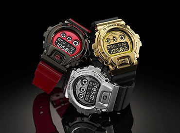 G-SHOCK Triple Graph Dial GM-6900 Series Featuring Stainless Steel Bezel