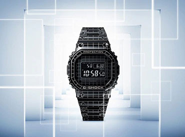 G-SHOCK Full Metal Construction GMW-B5000 with Grid Design